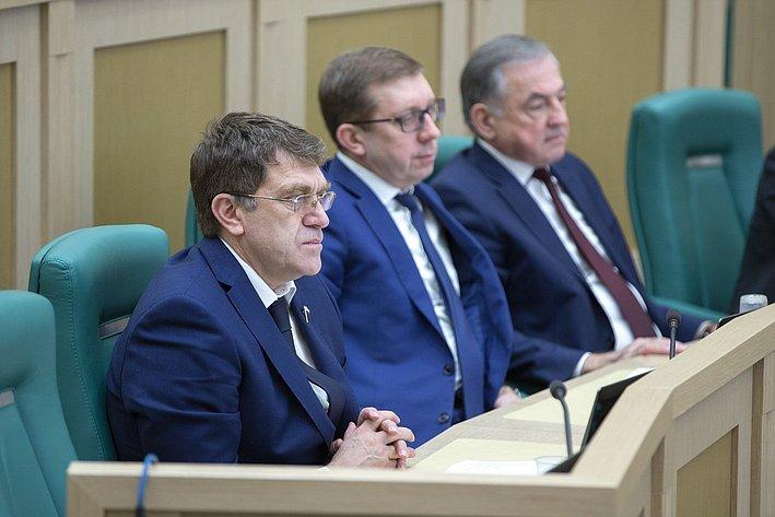 А. Салпагаров на385-м заседании Совета Федерации
