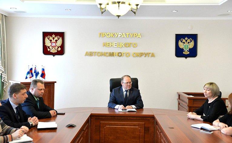 Встреча Риммы Галушиной ссотрудниками прокуратуры Ненецкого автономного округа