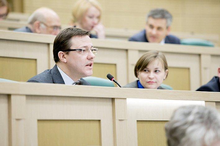 Д. Азаров 371-е заседание Совета Федерации