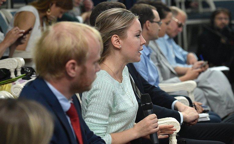 Пресс-конференция Председателя Совета Федерации В. Матвиенко поитогам весенней сессии Совета Федерации