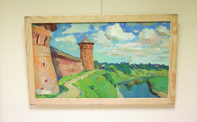 Открытие вСовете Федерации выставки художника В. Пугачева «Радостное небо»