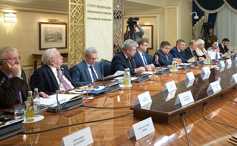 Встреча Константина Косачева спредседателем Комитета повопросам внешней политики иобороны Стортинга Королевства Норвегия Анникен Хюитфельдт