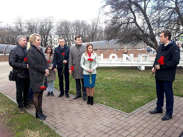 Возле памятника «Опаленный цветок» состоялся митинг