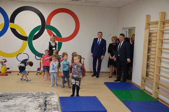 Сергей Лукин принял участие воткрытии детского сада, построенного врамках национального проекта «Демография»