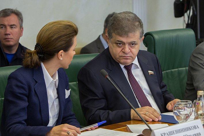 В. Джабаров на заседании Комитета общественной поддержки жителей Юго-Востока Украины