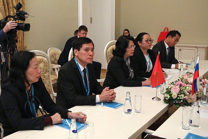 Председатель СФ провела встречу сВице-президентом Вьетнама