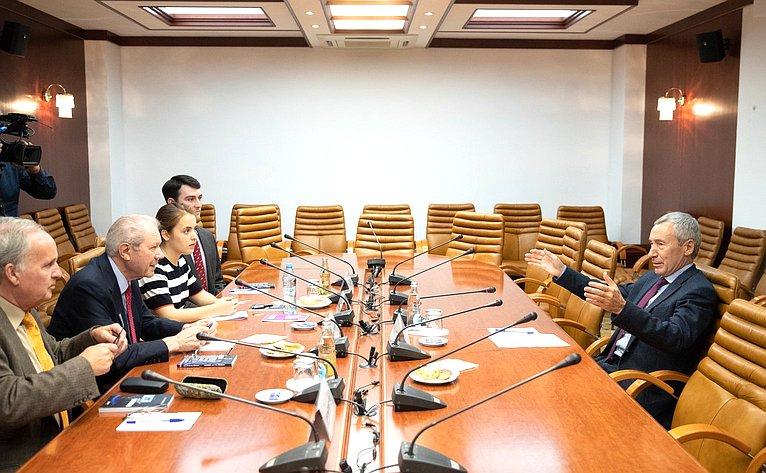 Встреча А. Климова сделегацией «Шотландской группы дружбы сРоссией»
