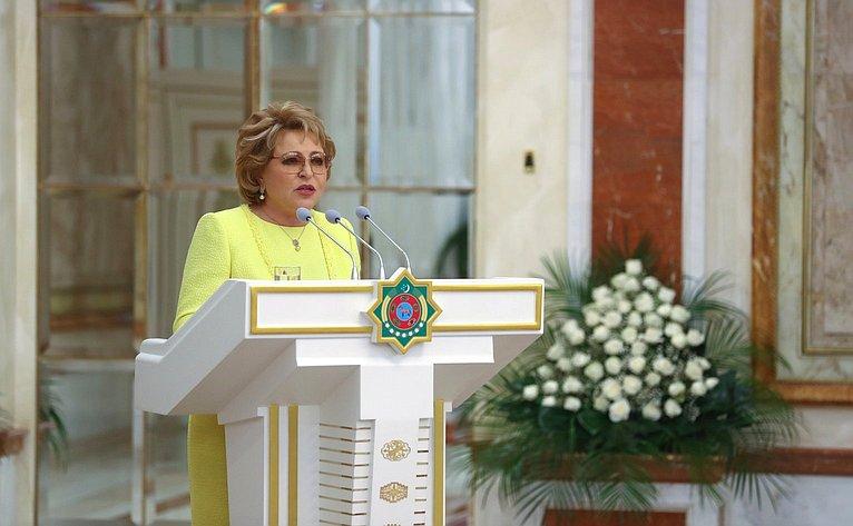 В. Матвиенко навстрече сПрезидентом Туркменистана Г.Бердымухамедовым