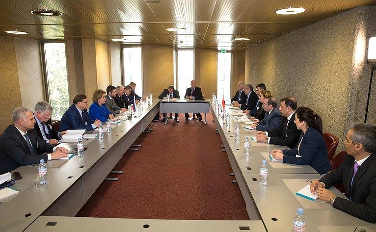 Встреча Председателя СФ сПредседателем Народного Совета Сирии