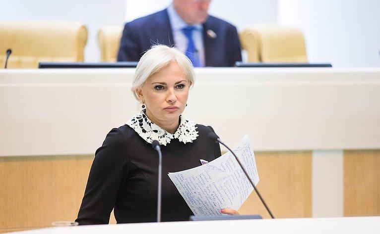 О. Ковитиди на386-м заседании Совета Федерации