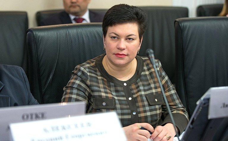 Л. Кононова назаседании Президиума Совета поАрктике иАнтарктике