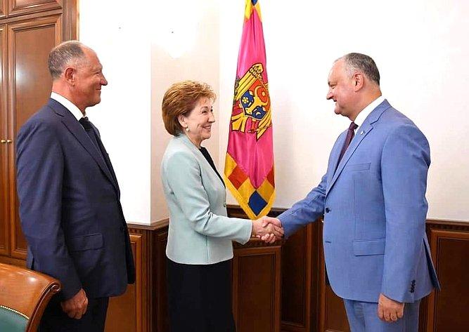 Встреча сПрезидентом Республики Молдовы Игорем Додоном
