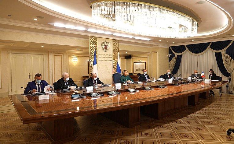 Переговоры Председателя СФ Валентины Матвиенко сПредседателем Сената Французской Республики Жераром Ларше