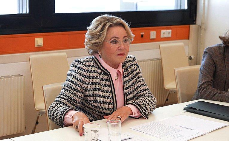 Встреча Валентины Матвиенко сПредседателем Парламентской ассамблеи Организации побезопасности исотрудничеству вЕвропе Маргаретой Седерфельт