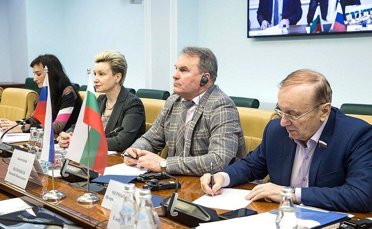 Видеоконференция между членами групп посотрудничеству Совета Федерации иНародного собрания Республики Болгарии