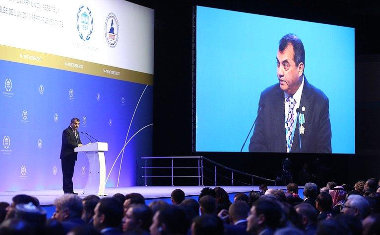 Выступление С. Чоудхури нацеремонии открытия 137-й Ассамблеи МПС