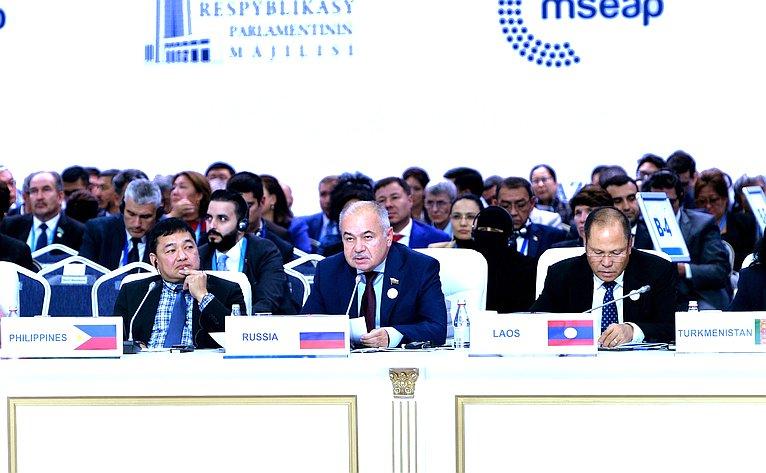Ильяс Умаханов принял участие вIV Совещании спикеров парламентов стран Евразии вг. Нур-Султан (Республика Казахстан)