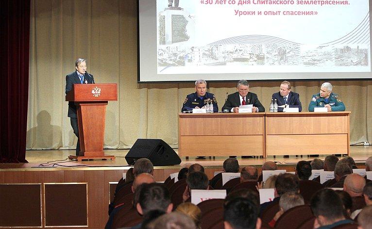 Ю. Воробьев принял участие впамятных мероприятиях к30-й годовщине землетрясения вАрмении