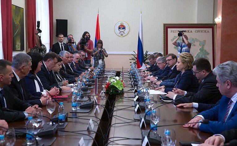 Встреча В. Матвиенко спрезидентом Республики Сербской М. Додиком