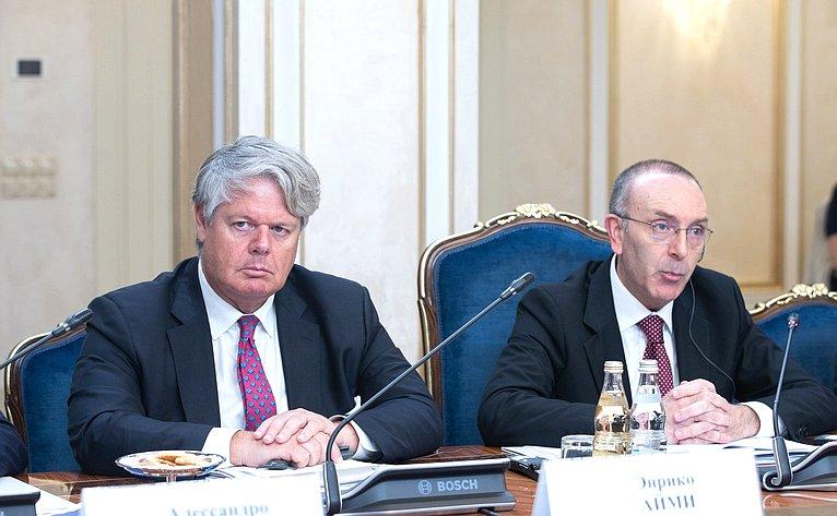Заседание Комитета СФ помеждународным делам иКомиссии поиностранным делам ивопросам миграции Сената Итальянской республики