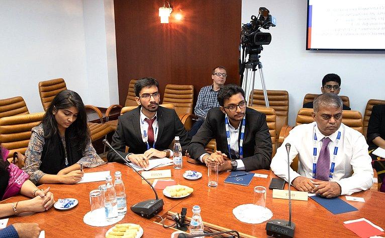 Встреча Е. Афанасьевой сделегацией представителей молодого поколения политическит активных ответственных работников Индии