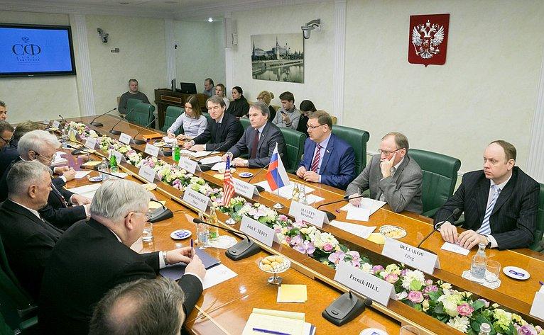 Встреча членов СФ сделегацией Конгресса США