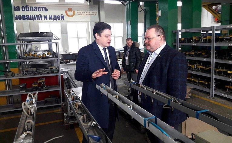 Олег Мельниченко посетил Пензенский завод точных приборов