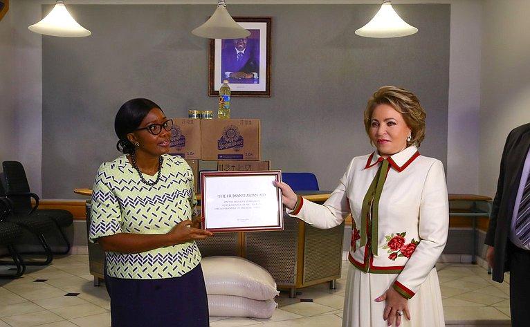 В.Матвиенко иПремьер-министр Намибии С.Куугонгельва-Амадила