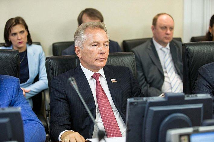 Заседание Комитета Совета Федерации по международным делам Пономарев