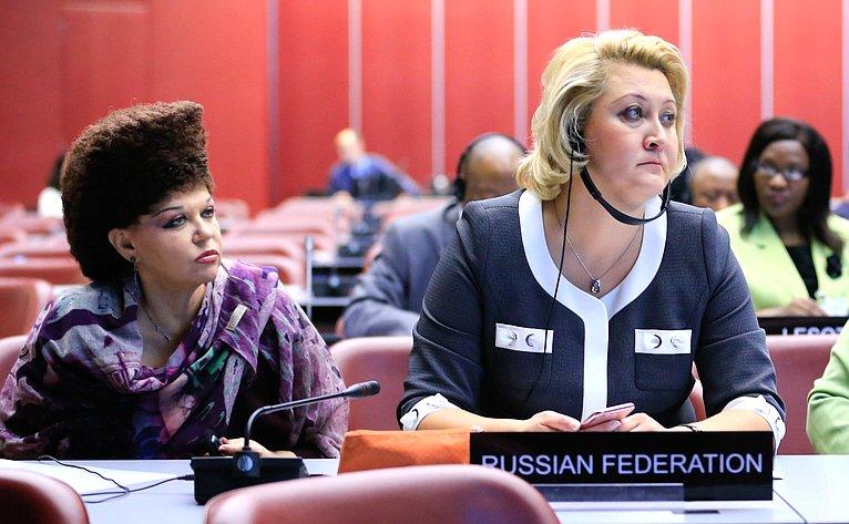 Члены делегации Совета Федерации В. Петренко иЛ. Гумерова