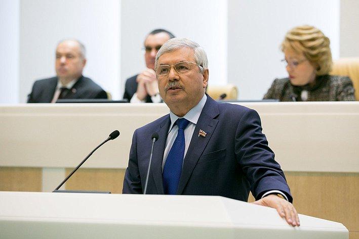 Мякуш на385-м заседании Совета Федерации