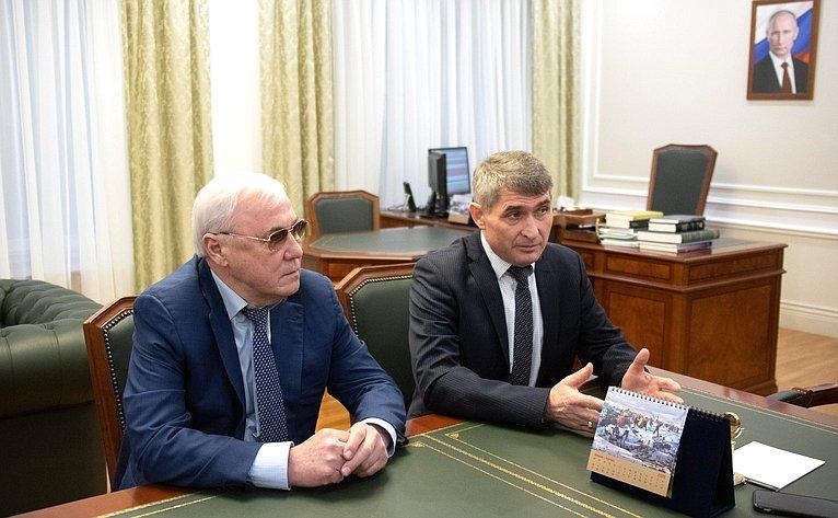 Встреча Николая Федорова сврио Главы Чувашской Республики Олегом Николаевым
