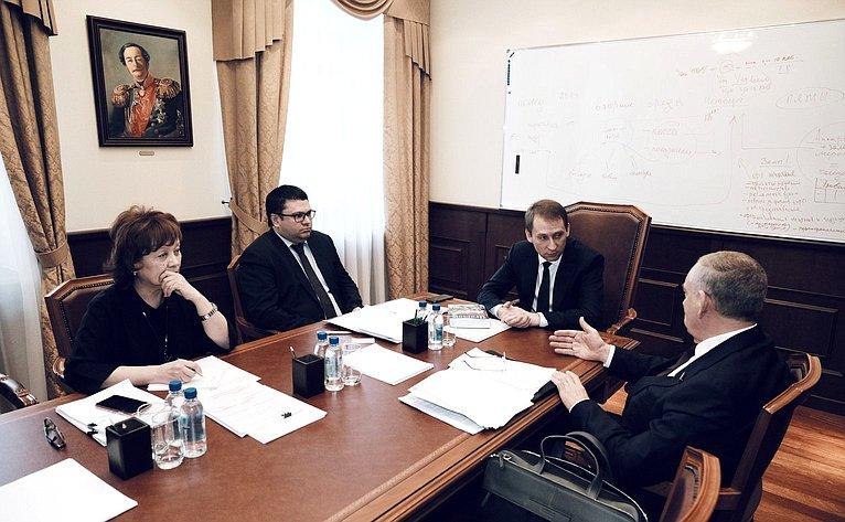 Встреча С.Митина сМинистром поразвитию Дальнего Востока иАрктики А.Козловым