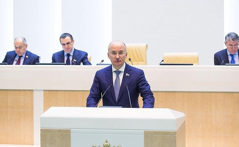 О. Цепкин на386-м заседании Совета Федерации