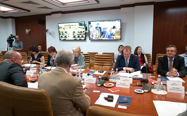 Видеоконференция между членами группы посотрудничеству Совета Федерации иСената Федерального парламента Королевства Бельгия