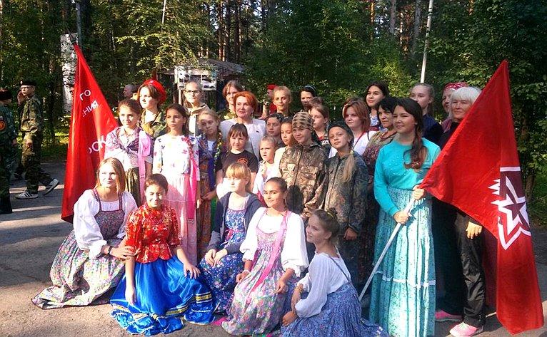 Н. Болтенко встретилась сучастниками отрядов движения «Юнармия»