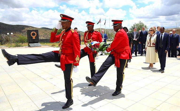 Посещение Мемориального комплекса памяти борцов занезависимость Намибии «Акр героев»