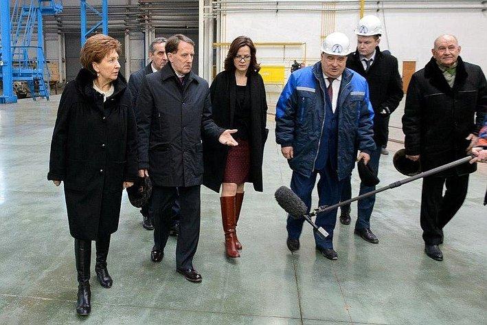 Галина Карелова врамках рабочей поездки посетила ряд промышленных предприятий региона