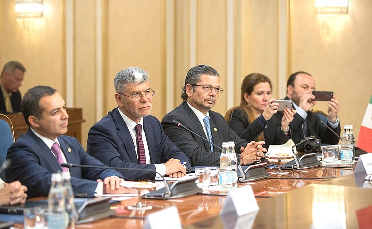 Встреча сПредседателем Палаты сенаторов Генерального конгресса Мексики
