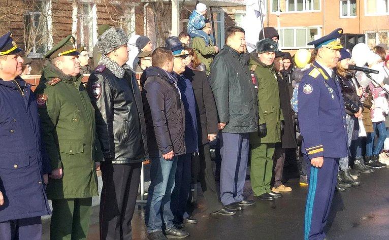 Вячеслав Мархаев принял участие вторжественном мероприятии, посвященном вступлению юных новобранцев вряды «Юнармии»