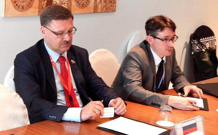 Встреча К. Косачева наполях сессии АТПФ