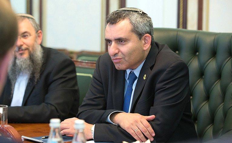 Встреча В. Матвиенко сМинистром поделам Иерусалима З.Элькиным