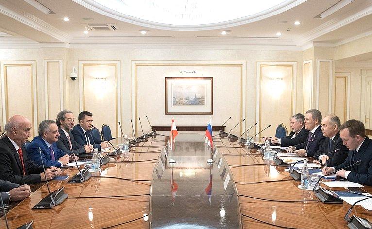 Встреча И. Умаханова сМинистром поделам перемещенных лиц Ливанской Республики, Президентом Ливанской демократической партии Т. Арсланом