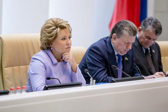 Матвиенко 380-е заседание Совета Федерации