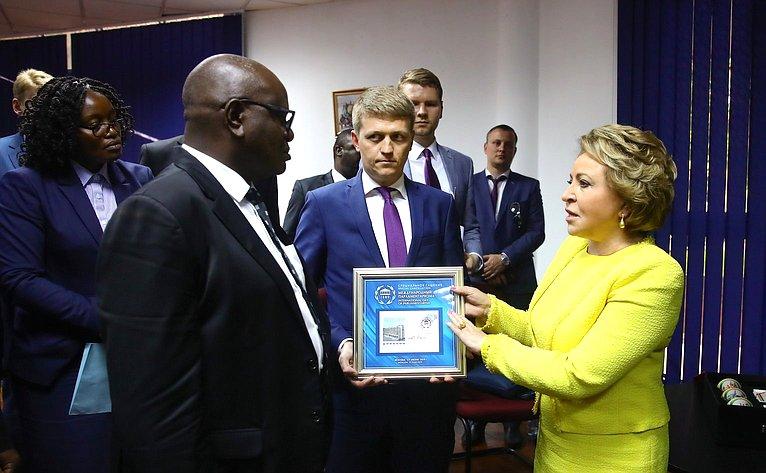 Официальный визит делегации Совета Федерации воглаве сПредседателем СФ В. Матвиенко вЗамбию