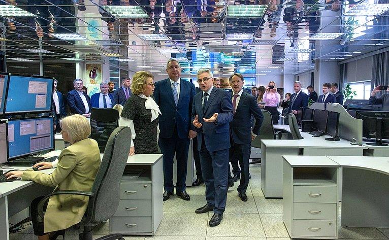 В. Матвиенко посетила Научный центр оперативного мониторинга Земли РКС