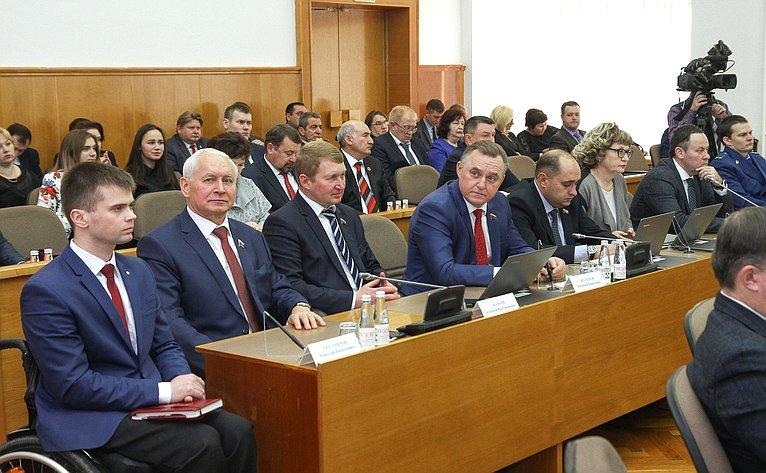 Николай Тихомиров принял участие вочередном заседании сессии Законодательного Собрания
