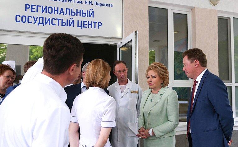 В. Матвиенко вРегиональном сосудистом центре вСевастополе