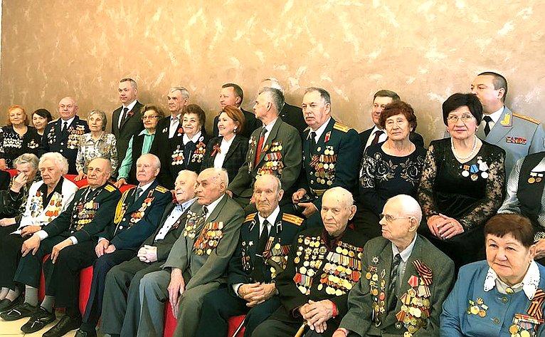 Надежда Болтенко приняла участие вторжественном приеме вчесть Дня Победы