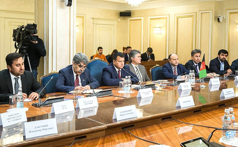 Встреча сПредседателем Нижней палаты Национальной Ассамблеи Исламской Республики Афганистан Миром Рахманом Рахмани